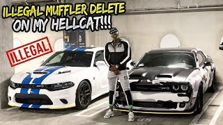 RUINED MY NEW HELLCAT WITH A MUFFLER DELETE!!!