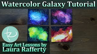 Beginner Watercolor Galaxy Tutorial in 7 Easy Steps! Learn to paint galaxies and nebulae quickly!