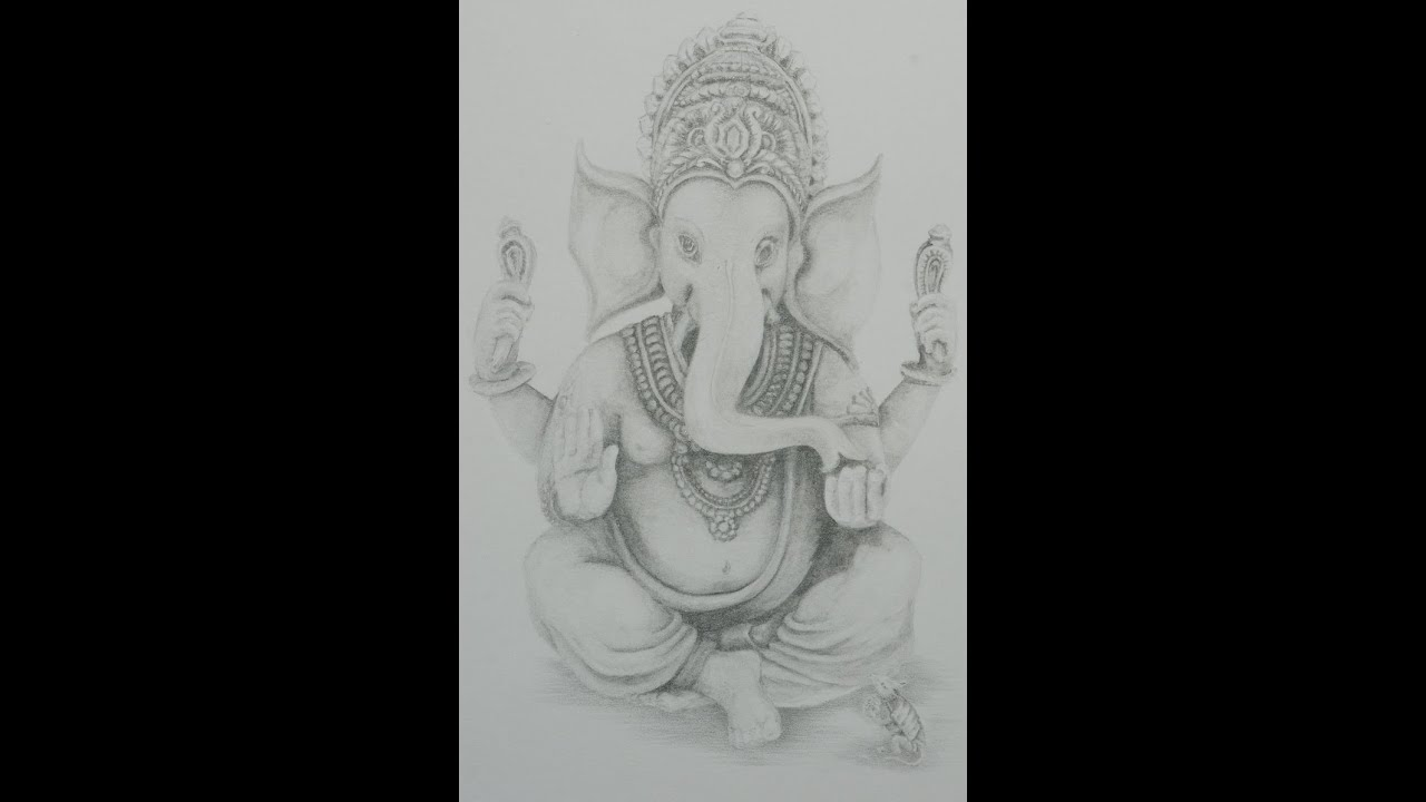 Cacschoolart drawing lord ganesha fine art pencil part 1 youtube