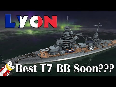 World of Warships - Lyon Datamine - Possible Best Tier 7 BB Soon???