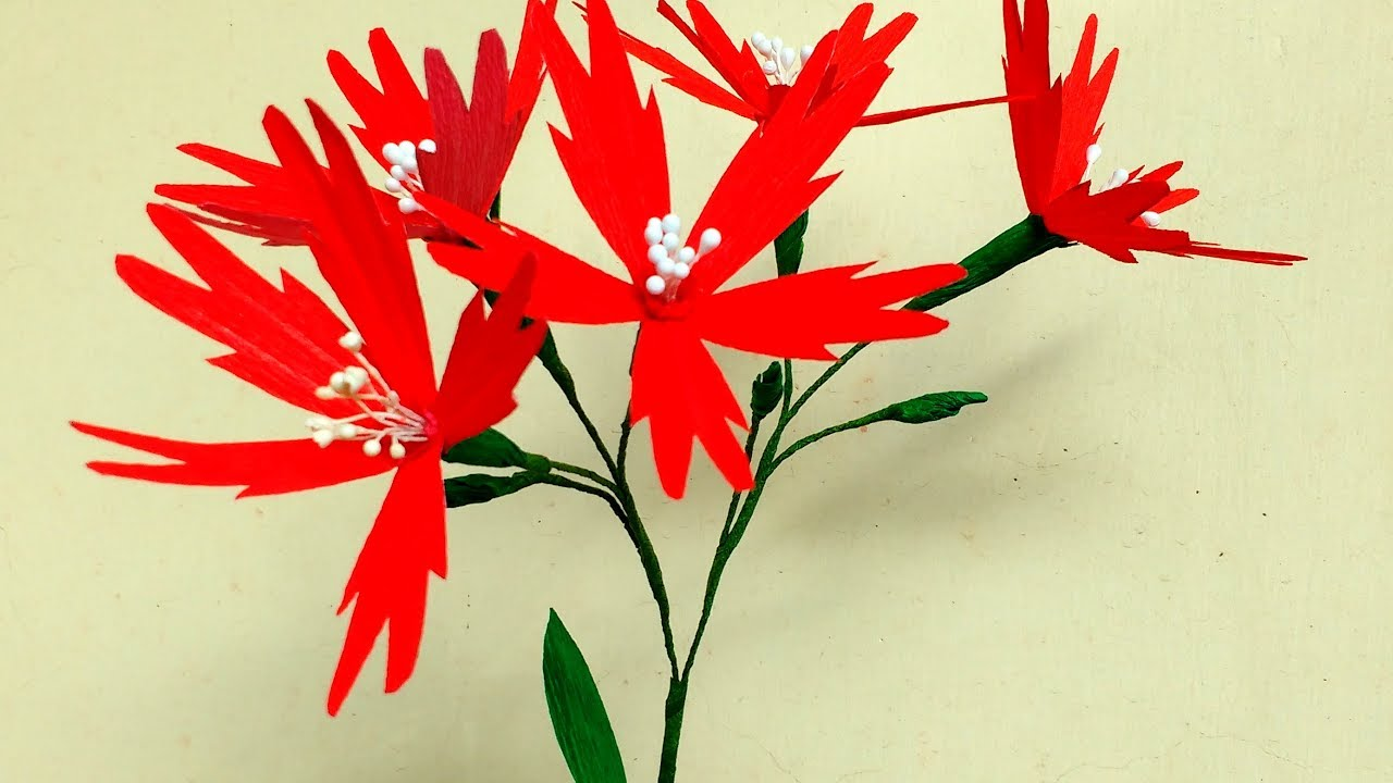 How To Make Paper Flower Fire Pink Silene Virginica Flower 164