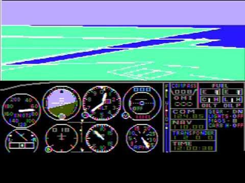 Microsoft Flight Simulator 1.0 (Gameplay)