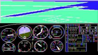 Microsoft Flight Simulator 1.0 (GamePlay video)