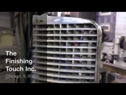 Chrome plating @ Finishing Touch - Cadillac Grill 1938