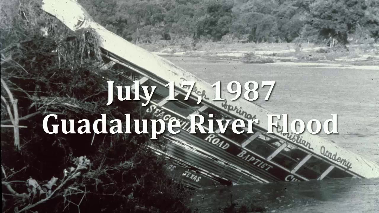 Victoria Tx News >> 1987 Guadalupe River Flood - YouTube