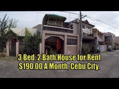 $190 Dollar a month, 3 Bed, 2 Bath house for lease. Cebu City.