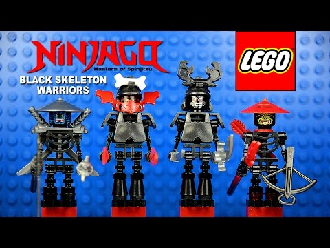LEGO® Ninjago MOC Black Skeleton Army Custom Minifigure Collection