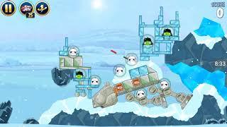 Прохождение Angry Birds Star Wars #5 [Планета Хот *1] (Пушка затащила!)