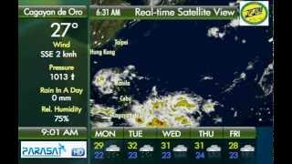 Parasat Weather Update Cagayan de Oro City: September 10, 2012