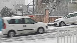 istanbulda yogun kar yağışı başladı..08 ocak 2019 salı