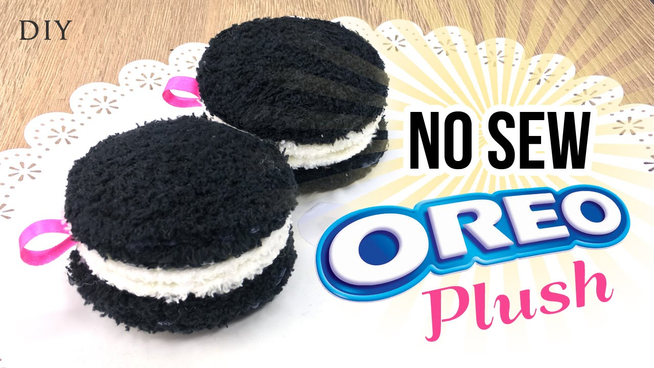 Diy No Sew Cookie Pillow: How To Make Oreo Plush   Easy NO SEW DIY! Make Plushie Oreo    ,