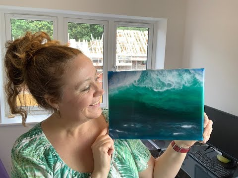 116 - Resin Art - Testing Colour Me Happy Pigments -  Dramatic Stormy Wave