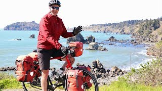 PACIFIC COAST CYCLING ADVENTURE: Northern California Redwoods Bike Tour - EP. #229