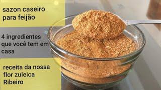Faça Sazon Caseiro Para Feijão com 4 Ingredientes