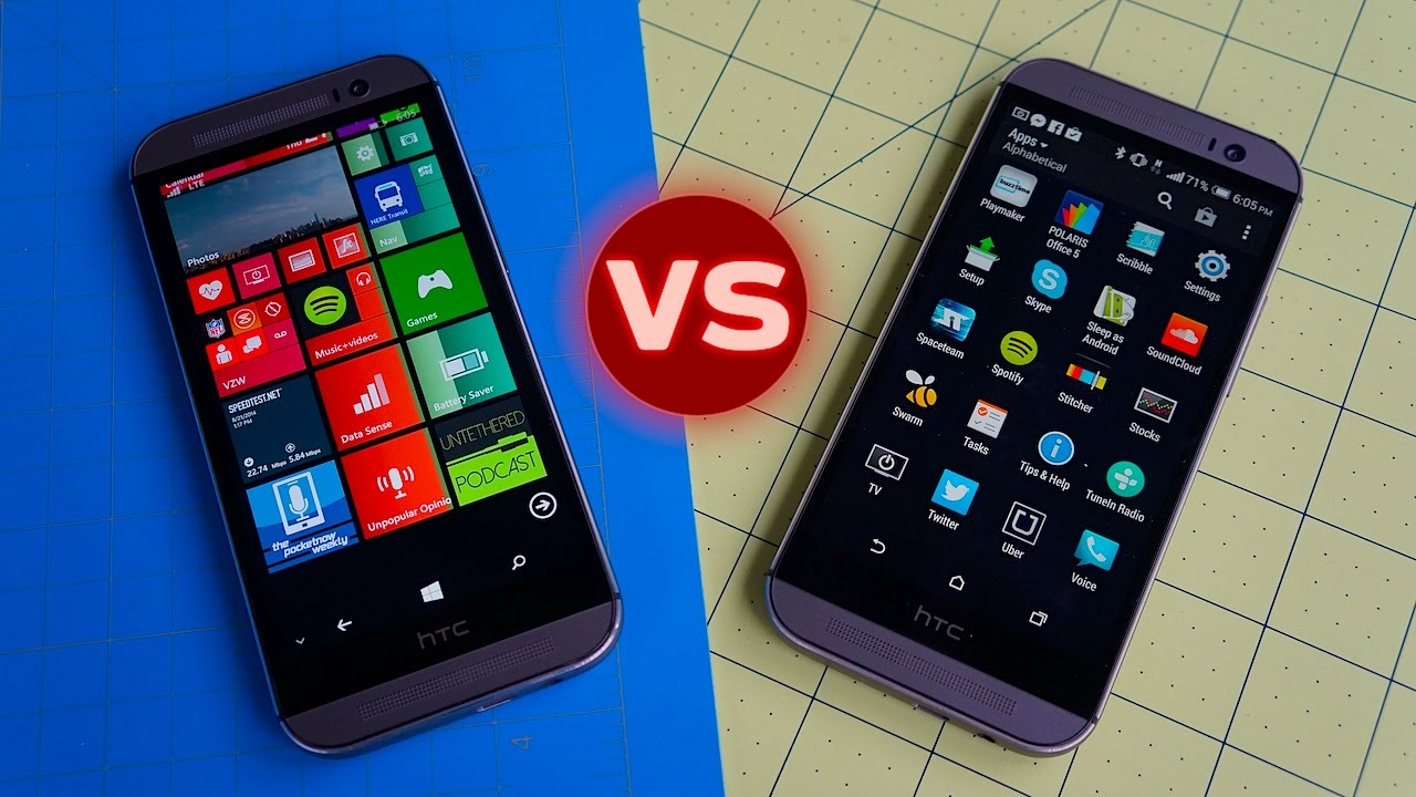 HTC One M8 for Windows and HTC One M8 - Comparison