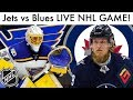 WINNIPEG JETS vs ST LOUIS BLUES NHL LIVE GAME REACTION! (WPG vs STL Live Stream)