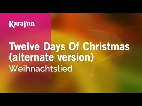 Karaoke Twelve Days Of Christmas (alternate version) - Christmas Carol *
