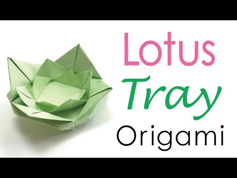 Lotus Leaf Origami Paper Ring Tray  - Origami Kawaii〔#050〕