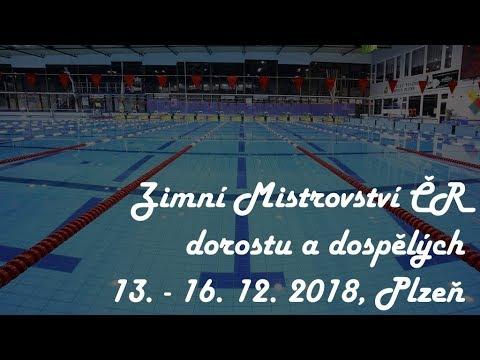 🏊 Zimní Mistrovství ČR dorostu a dospělých 2018