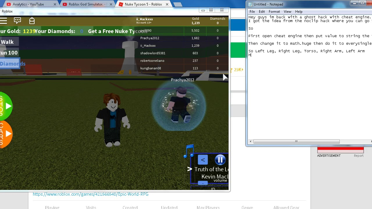 Roblox Ghost Hack Cheat Engine Youtube