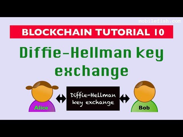 Blockchain tutorial 10: Diffie-Hellman key exchange