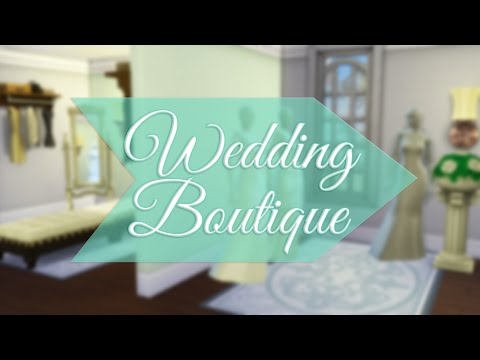 Sims 4: Speed Build - Wedding Dress Boutique