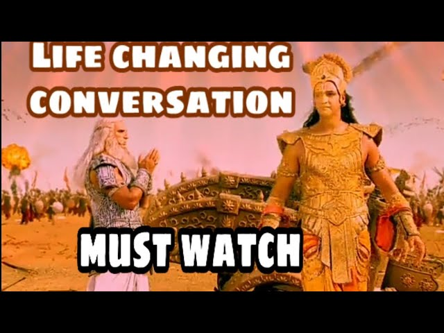Krishna And Bhishma Conversation L Krishna And Bhishma Conversation Starplus Mahabharat Youtube