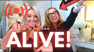 Lisa ALIVE and answering all of your Q&A on YouTube!