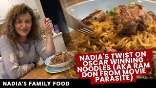 NADIA'S TWIST on OSCAR WINNING NOODLES (aka RAM DON from movie PARASITE)