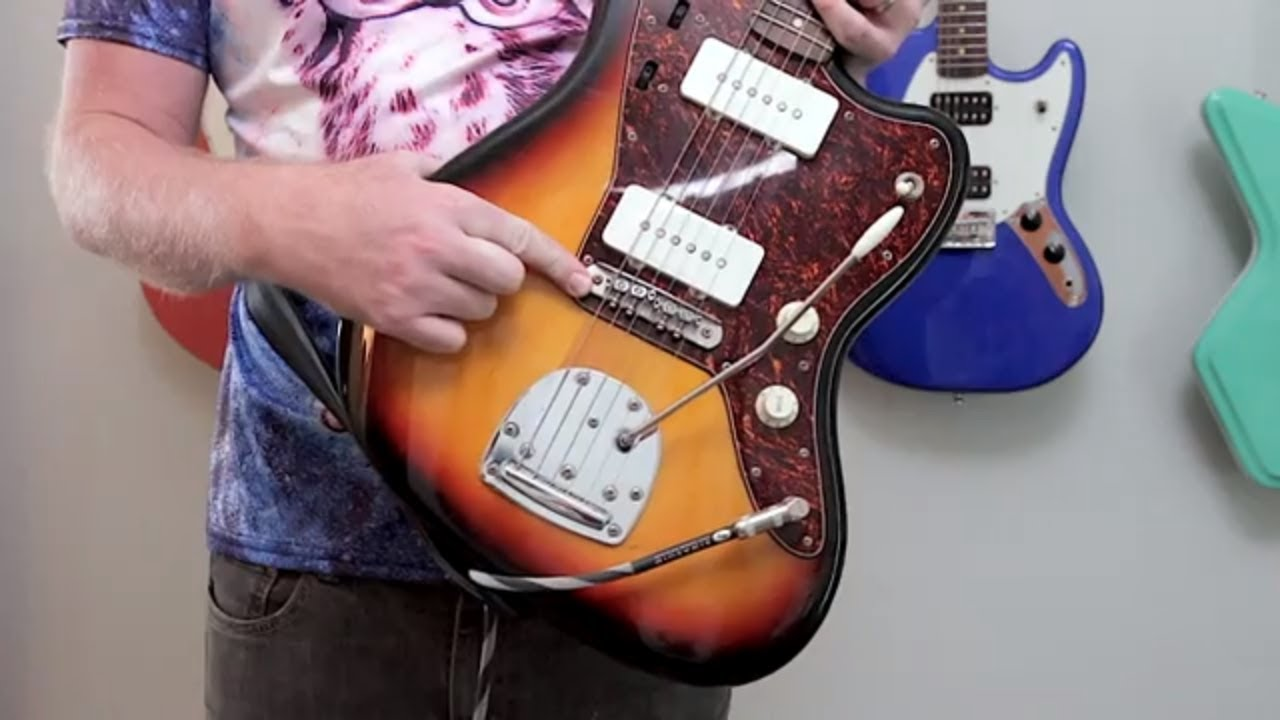 Squier Vintage Modified Jazzmaster with Mastery Bridge. - YouTube on squier tele special, squier bullet special, squier vintage modified stratocaster, squier telecaster bass special, squier precision bass special,