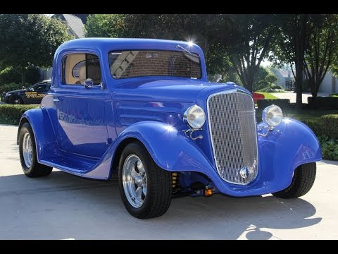 1934 Chevrolet 3 Window Coupe Street Rod For Sale