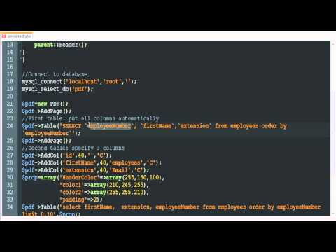 Save Mysql Data as PDF with PHP - YouTube