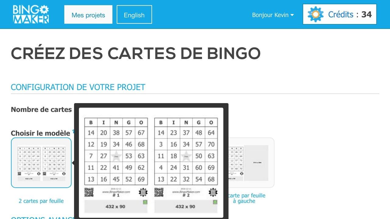 Audacieux Comment générer des cartes bingo avec Bingo Maker - YouTube NM-13