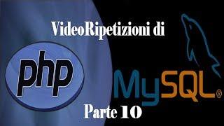 PHP MySQL VideoRipetizione 10: Gestione dell'Area Riservata #VIDEORIPETIZIONI