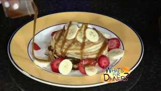What's For Dinner? - Banana Peanut Butter Pancakes