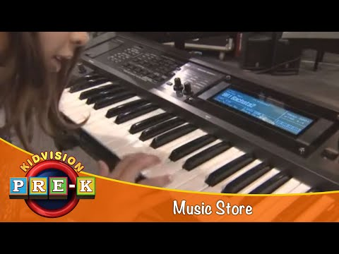KidVision Pre-K Music Store Field Trip
