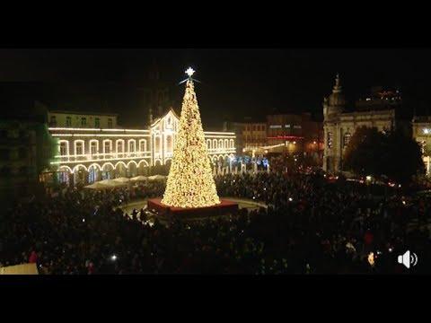 Iluminação e Árvore de Natal em Braga (2018)