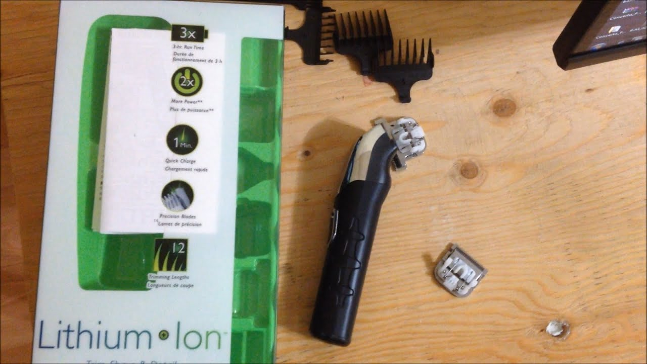 wahl lithium ion trimmer review youtube. Black Bedroom Furniture Sets. Home Design Ideas