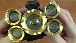 мощный налобный светодиодный фонарь с AliExpress