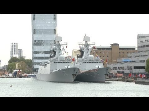 Chinese Navy Fleet Pays First Official Visit to London