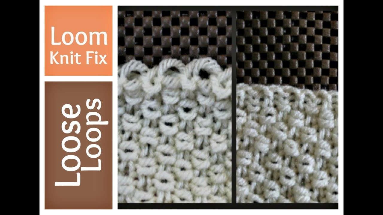 Boye Loom Knitting Stitches : Loom Knitting - Loose Stitches - How to Tighten First Row Cast on Loomahat ...