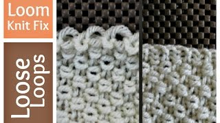 Loom Knitting - Loose Stitches - How to Tighten First Row Cast on | Loomahat