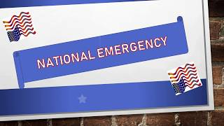 NATIONAL EMERGENCY for TRUMP'S BORDER WALL!