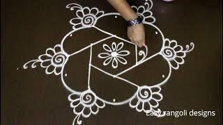 how to draw simple kolam designs  / beautiful  dots muggulu designs / easy rangoli designs