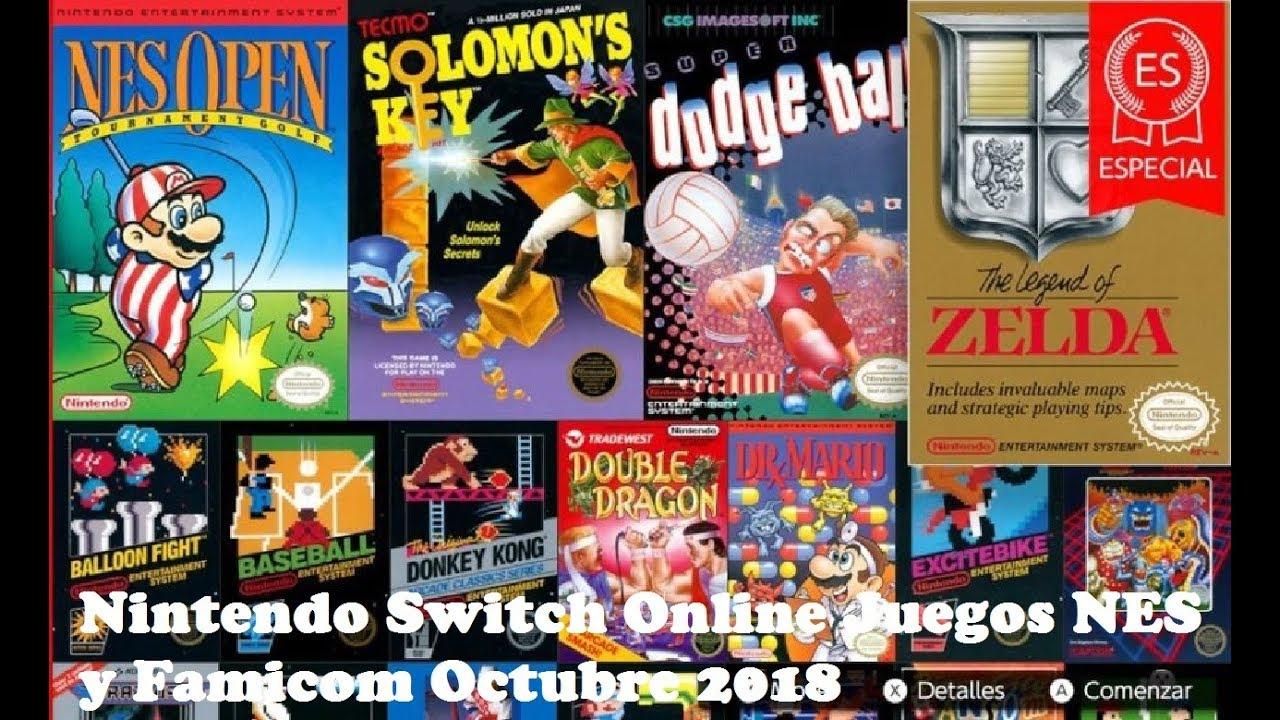 Nintendo Switch Online Juegos Nes Y Famicom Octubre De 2018 Youtube