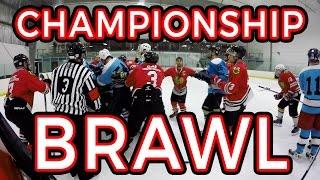 Championship Brawl  | GoPro Hockey Goalie [HD]