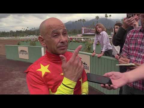 Jockey Mike Smith Interview Following Win by Justify at Santa Anita