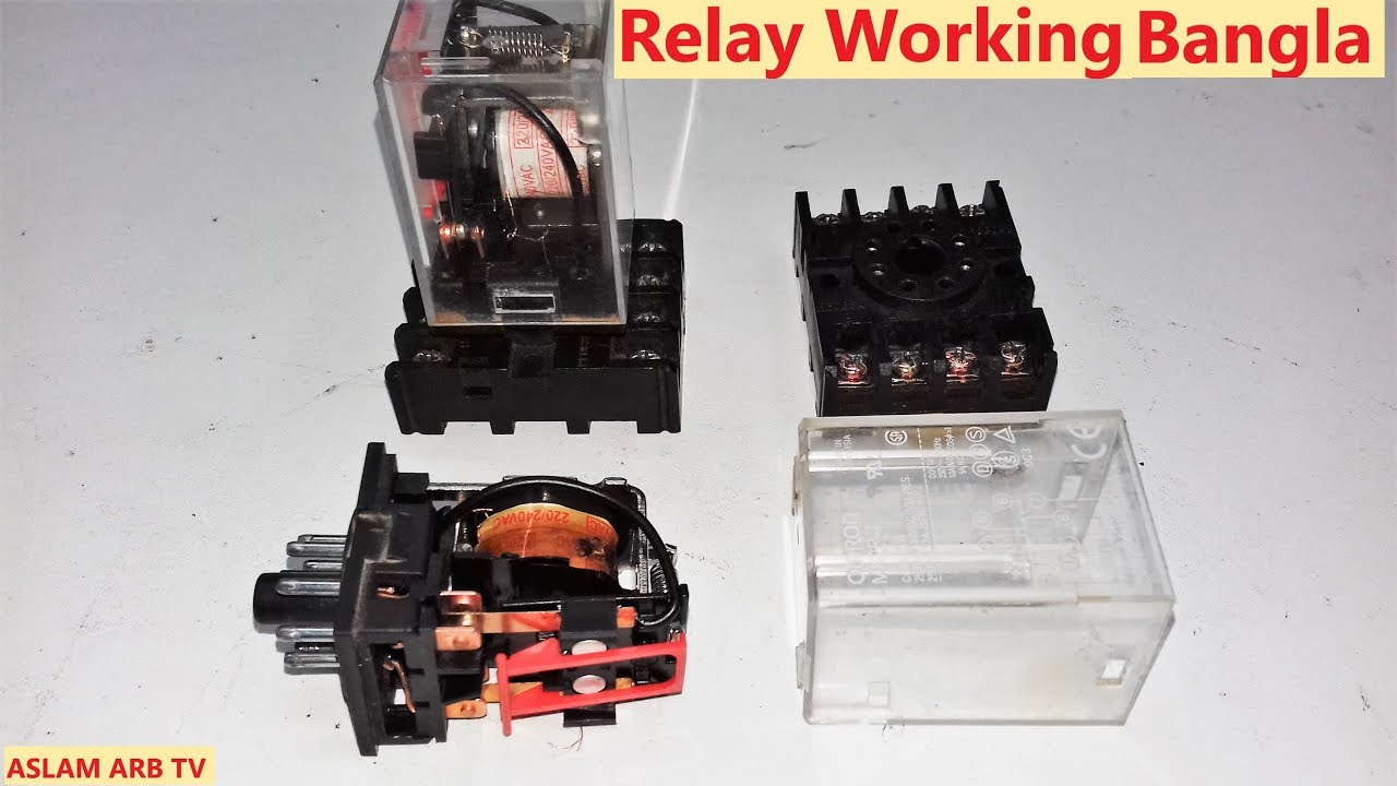 How To Work Magnetic Relay  220vac 8 Pin Relay Working
