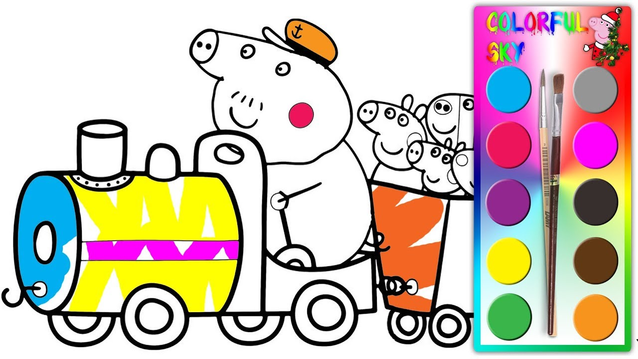 zug mahlvorlage für kinder  ausmalbilder zug 5