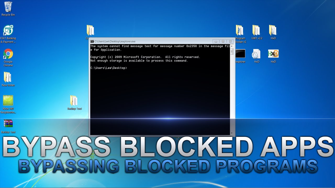 how to bypass school admin password windows 7